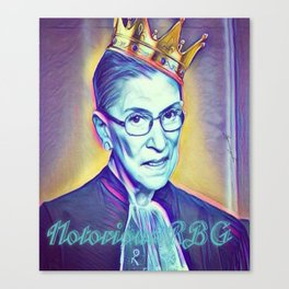 Vintage Notorious RBG SUPREMES Ruth Bader Ginsburg Canvas Print