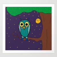 Artsyfartsy: Owl Art Print