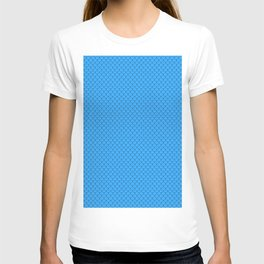 Sky Blue Scales Pattern T-shirt