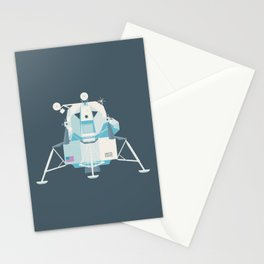 Apollo 11 Lunar Lander Module - Plain Charcoal Stationery Cards
