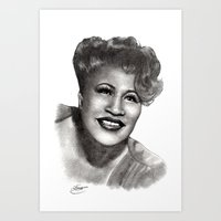 fitzgerald Art Prints featuring Ella Fitzgerald by Chloé Arros