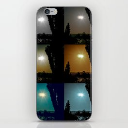 Ecliptical sun over Hollywood, CA iPhone Skin