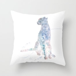 Digital Painting of Cheetah sitting Throw Pillow