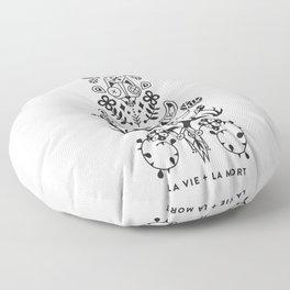 La Vie + La Mort: Black Ink Floor Pillow