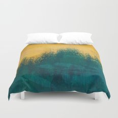 Gold Rush Peacock Duvet Cover