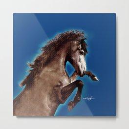 Prancing Horse by Kathy Morton Stanion Metal Print