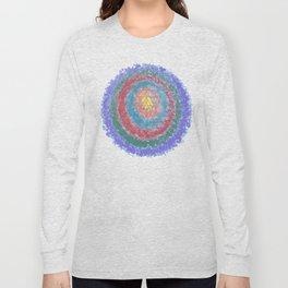 Be Like Water Sri Yantra Long Sleeve T-shirt