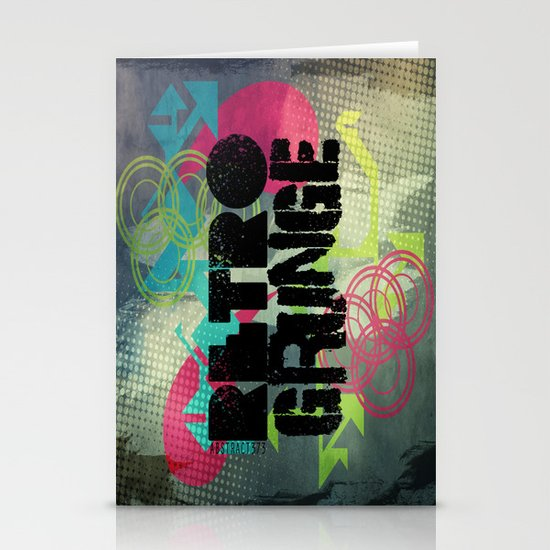 Abstract373 Retro Grunge Stationery Cards