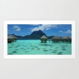Bora Bora Bungalow Art Print