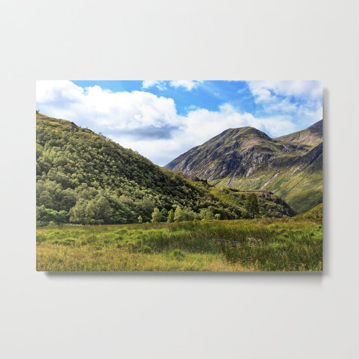 A walk in the Scottish Highlands, Glencoe. Metal Print