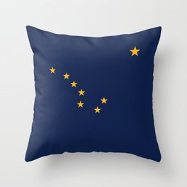 State flag of Alaska - Authentic version Throw Pillow