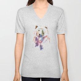 Bear / Abstract animal portrait. Unisex V-Neck