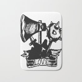 Love and weapons, Custom gift design Bath Mat