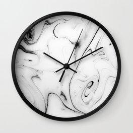 Elegant white marble image Wall Clock
