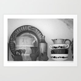 Pottery still life Art Print