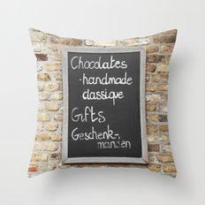 Belgium Chocolates Throw Pillow