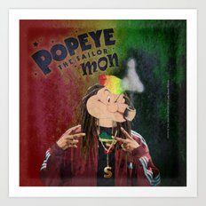 POPEYE THE SAILOR MON - 018 Art Print