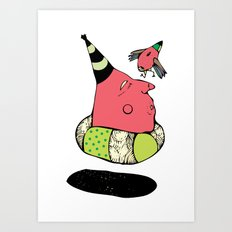 fallow your little bird Art Print