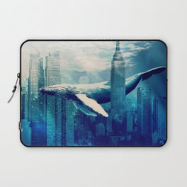 Blue Whale in NYC Laptop Sleeve
