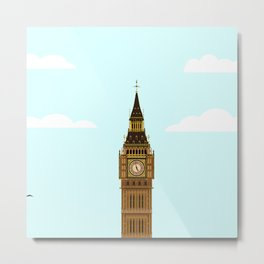 Big Ben Blue Skies Metal Print