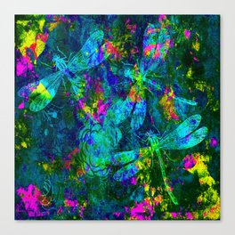 Colorful Dragonflies ZZ R Canvas Print