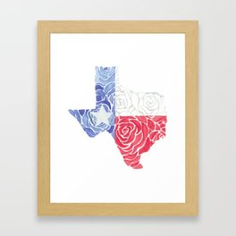 Texas Roses Framed Art Print