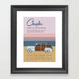 Chrysler Town & Country Woody   San Onofre California Framed Art Print