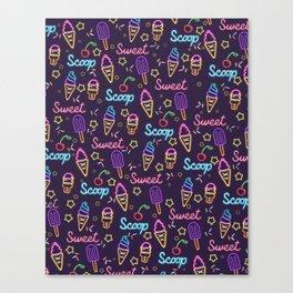 Sweet Scoop Ice Cream Canvas Print