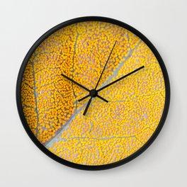 Orange Leaf Veins Wall Clock