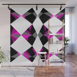 Gemstones Geometric Pink Wall Mural