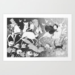 Run Along Now, and Don't Get Into Mischief! Art Print