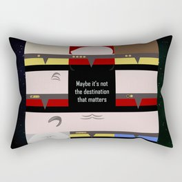Maybe it's not the Destination that matters - square - Star Trek: Voyager VOY  trektangle minimalist Rectangular Pillow