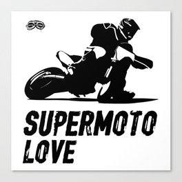 Supermoto Love Canvas Print