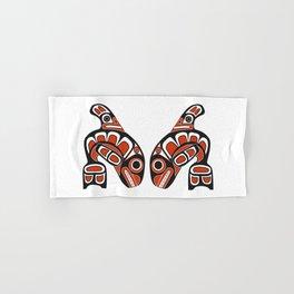 Orca Whale Haida Style Art - Native American Totem Tribal Hand & Bath Towel