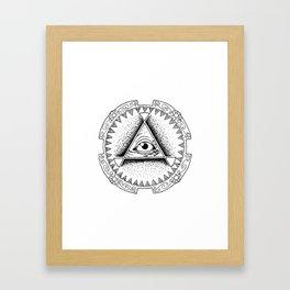 The Triangle-shaped Watcher Framed Art Print