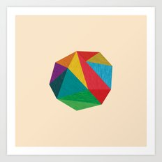 Poly Circle Art Print
