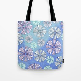 sea urchin blue watercolor Tote Bag