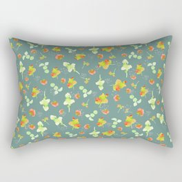 Floral pattern-Gray background pattern-small scale Rectangular Pillow