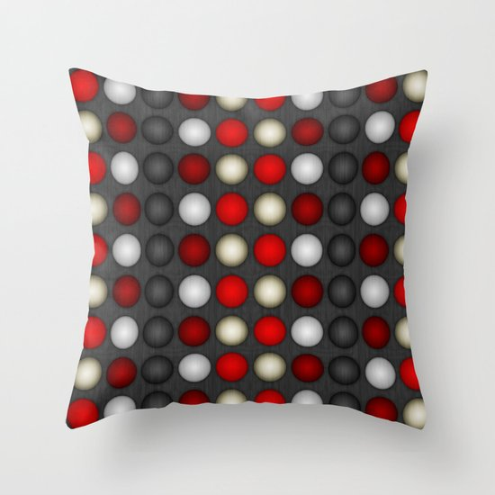Dark Romance Polka Throw Pillow