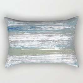 Silver striped Rectangular Pillow