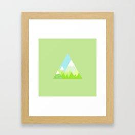 national park geometric pattern Framed Art Print
