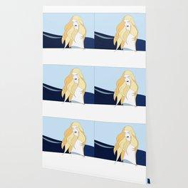 Naiades Goddess of the Sea Naked Woman Blonde Hair Drawing Wallpaper
