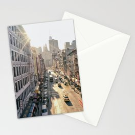 New York City - Chinatown from Above at Sunset Stationery Cards