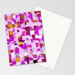 Crazy Squares Stationery Cards