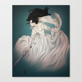 The Owl and The Sword Canvas Print