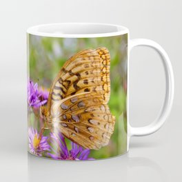 Butterfly and Asters Coffee Mug