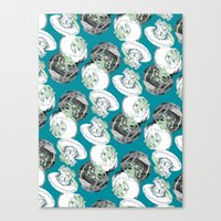 jelly fish Canvas Prints featuring Jelly Fish by Eleanor V R Smith