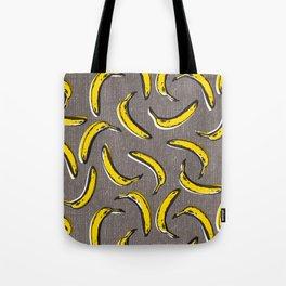 Pop Art Bananas - Gray Tote Bag