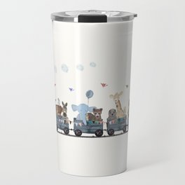 big little nursery nature train Travel Mug