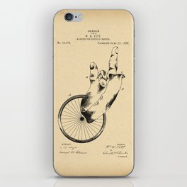 1896 Patent Design for a marker for bicycle routes iPhone Skin